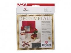 5 feuilles de métal - argenté Rayher - 1