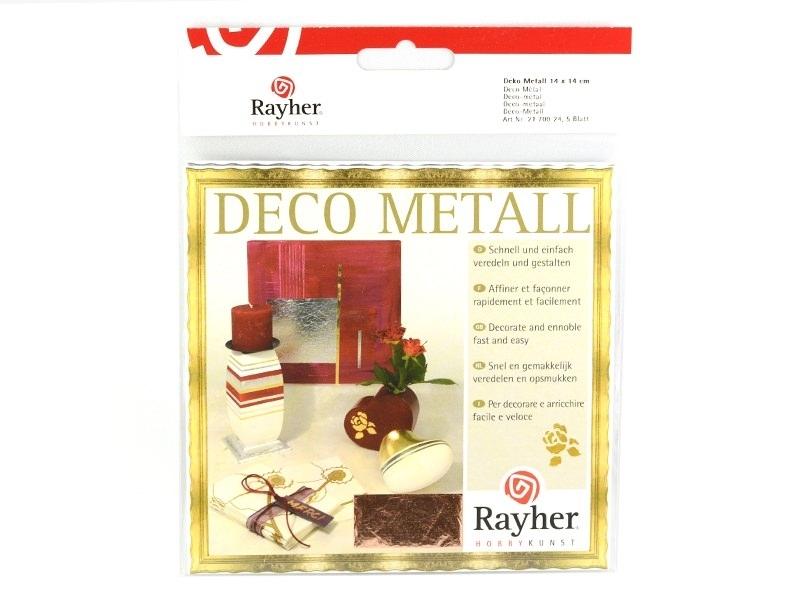 5 feuilles de métal - Cuivré Rayher - 1