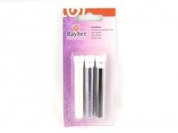 3 tubes de paillettes fines - noir, violet, blanc