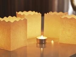 6 Windlichter aus Papier