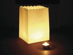 10 Windlichter aus Papier