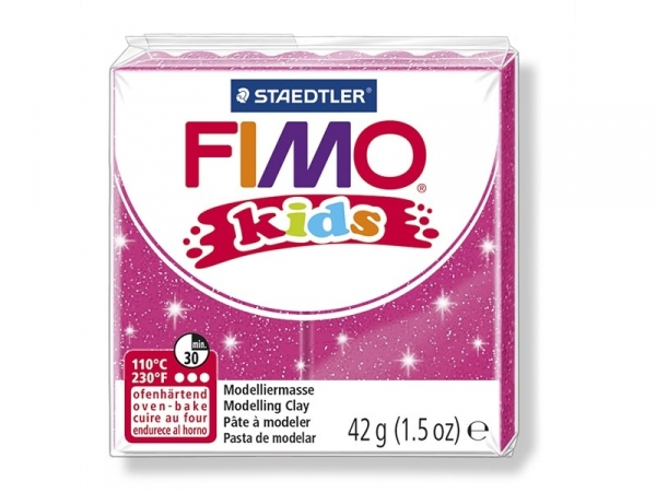 Fimo Kids - glitter pink no. 262
