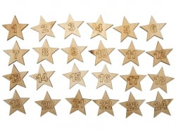 Advent calendar - wooden stars