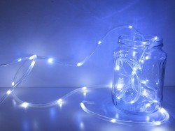 Neon-coloured LED table lights - blue