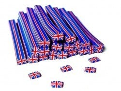 Cane drapeau Angleterre- en pâte fimo - à trancher