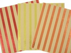 Feuille carton kraft - rayures dorées