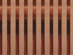 Feuille carton kraft - rayures cuivées