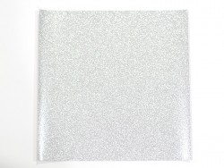 Glitter sheet - silver-coloured