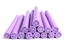 Cane sourire Violet- en pâte polymère pour le modelage