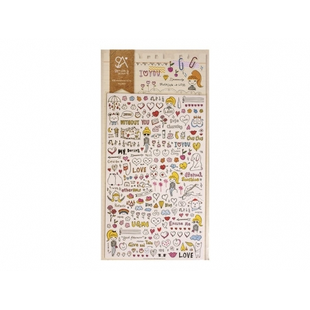 """Stickers - """"I love you"""""""