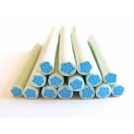 Rose cane - blue