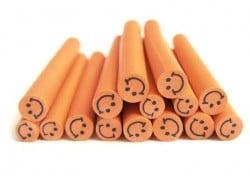Cane sourire Orange- en pâte polymère pour le modelage