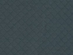 Quilted jersey fabric - anthracite grey