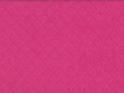 Quilted jersey fabric - fuchsia red