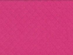 Tissu jersey matelassé - rose fuchsia