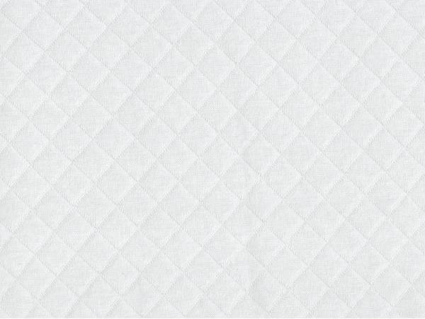 Tissu jersey matelassé - blanc