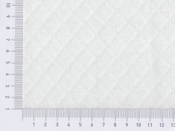 Quilted jersey fabric - white