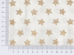Tissu à étoiles dorées pailletées