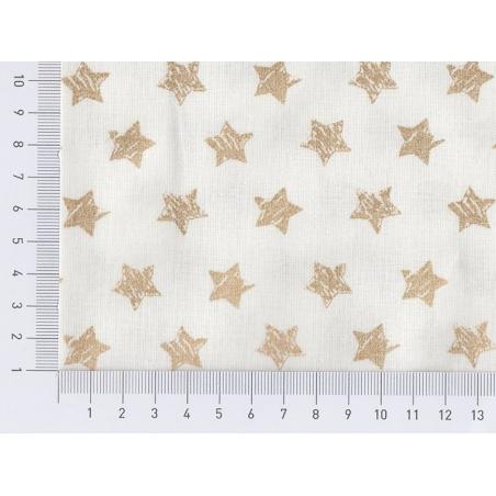 Tissu à étoiles dorées pailletées Rico Design - 2