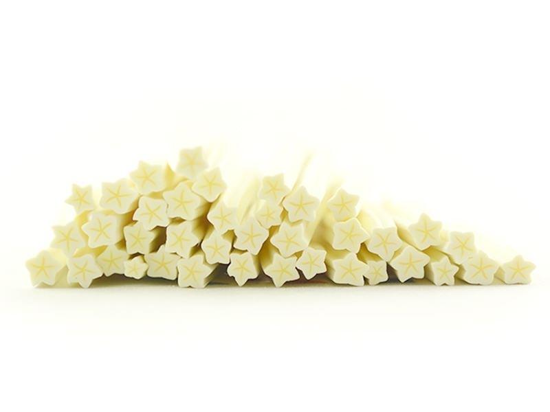 Cane étoile jaune pâle- en pâte fimo - à trancher