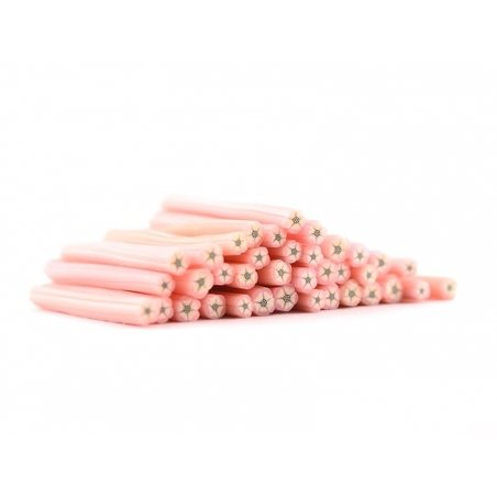 Flower cane - pink with a black centre
