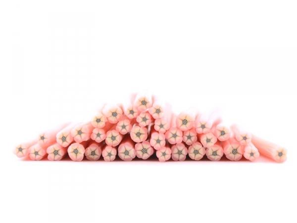 Acheter Cane fimo fleur rose au coeur noir - 0,99€ en ligne sur La Petite Epicerie - Loisirs créatifs