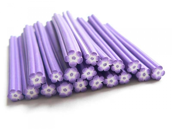 Flower cane - purple and white