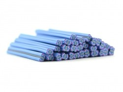 Butterfly cane - blue and purple