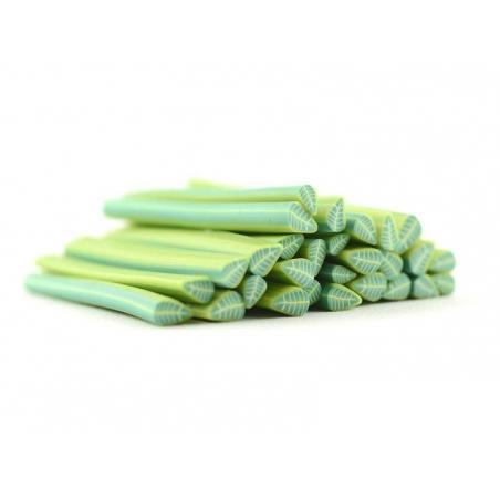Cane feuille vert sapin en pâte fimo - à découper en tranches
