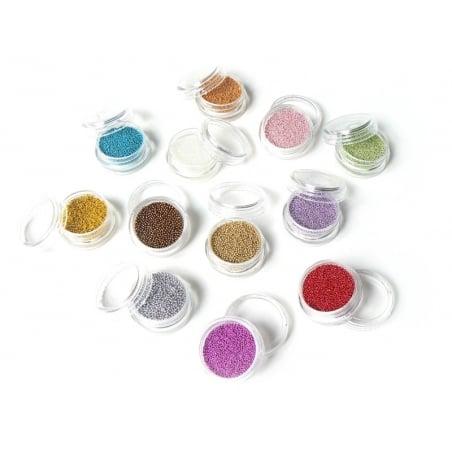 Lot de 12 couleurs de microbilles métallisées
