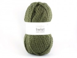 "Knitting wool - ""Twist"" - khaki"