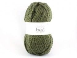 Laine à tricoter Twist - kaki Rico Design - 1