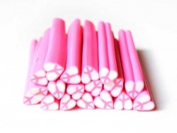 """Heart cane - """"Peace and Love"""", pink"""