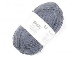 "Knitting wool - ""Basic - Super big - Tweed"" - blue"