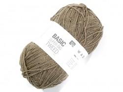 "Knitting wool - ""Basic - Super big - Tweed"" - beige"