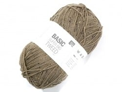 "Laine à tricoter ""Basic Super Big Tweed"" - beige"