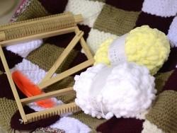 Laine à tricoter Creative Pompon - blanc