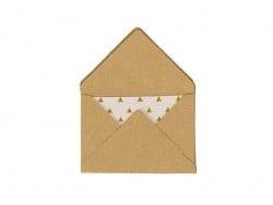 10 mini enveloppes et cartes - kraft