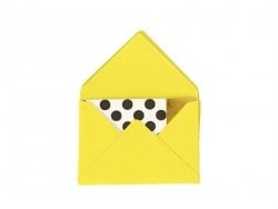 10 mini envelopes and cards - neon yellow