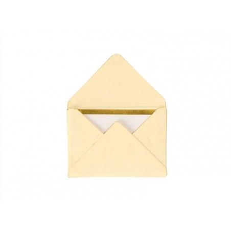 10 mini enveloppes et cartes - crème