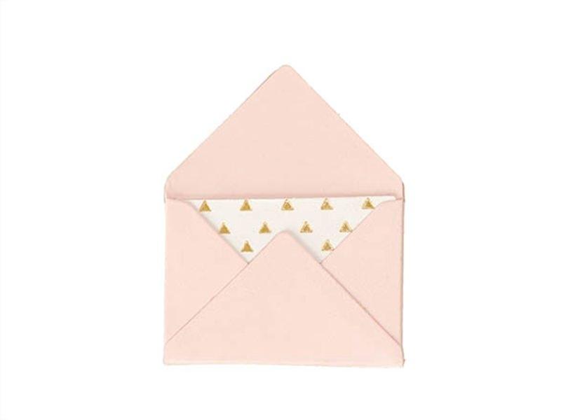 Acheter 10 mini enveloppes et cartes - rose - 5,30€ en ligne sur La Petite Epicerie - Loisirs créatifs