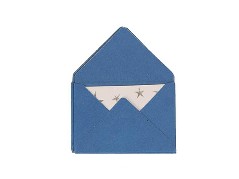 10 mini envelopes and cards - blue