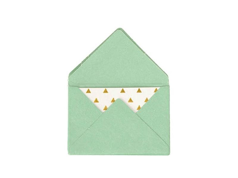 10 mini envelopes and cards - turquoise
