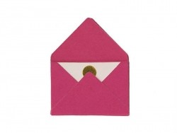 10 kleine Briefumschläge und Karten - fuchsienrot