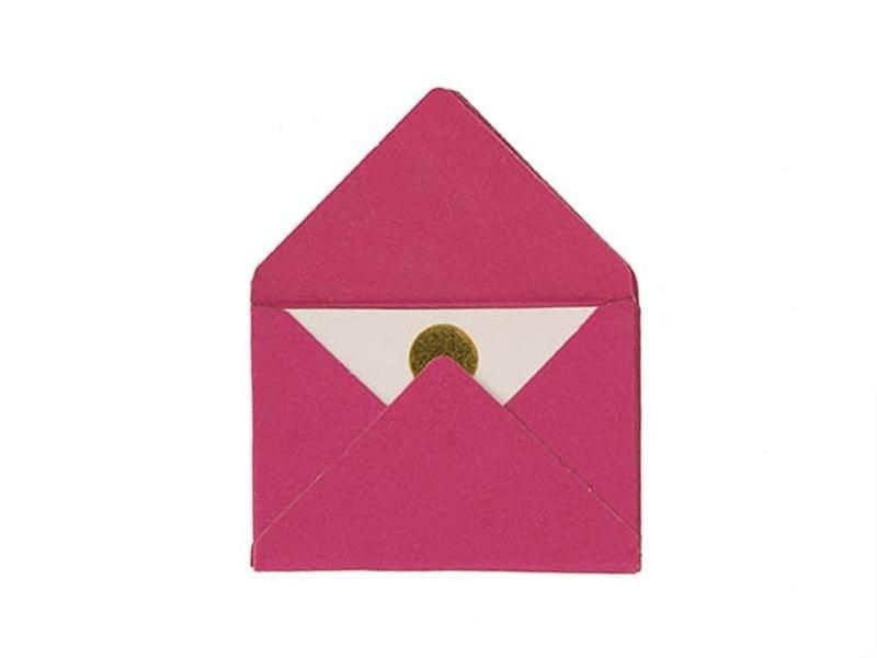 10 mini enveloppes et cartes - fuchsia