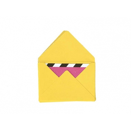10 mini envelopes and cards - yellow
