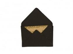 10 kleine Briefumschläge und Karten - schwarz