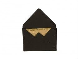 10 mini envelopes and cards - black