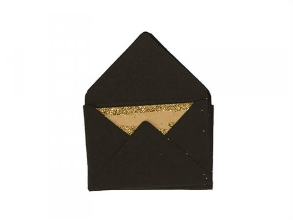 10 mini envelopes and cards - black
