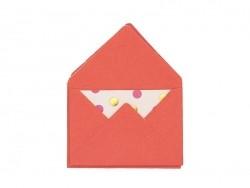 10 kleine Briefumschläge und Karten - rot